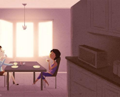 Zusammen Frühstücken